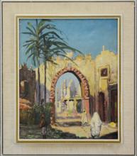 """Henri Jean PONTOY - Painting - """"Scène de rue à Fez"""""""