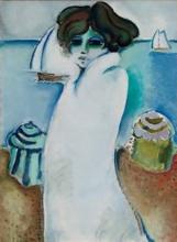 让-皮埃尔•卡西尼尔 - 绘画 - Le peignoir de bain