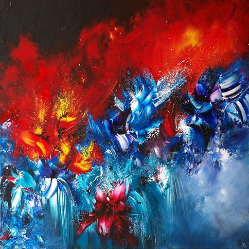 Estelle BARBET - Peinture - Tout feu tout flamme