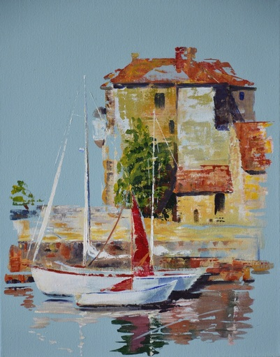 Diana KIROVA - Painting - L'old harbour