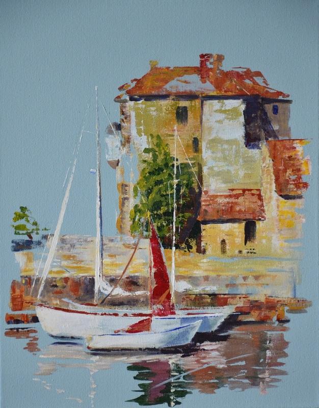 Diana KIROVA - Painting - L'old harbour