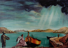 Salvador DALI - Estampe-Multiple - Ange de Port Lligat