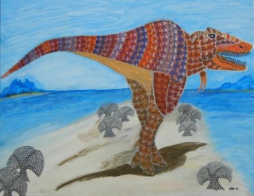 Annemarie HOFFMANN - Painting - Baum-T-Rex    (Cat N° 5840)