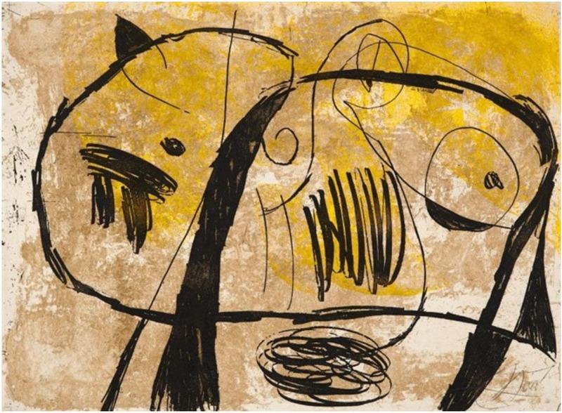 Joan MIRO - Print-Multiple - La Commedia dell'Arte V