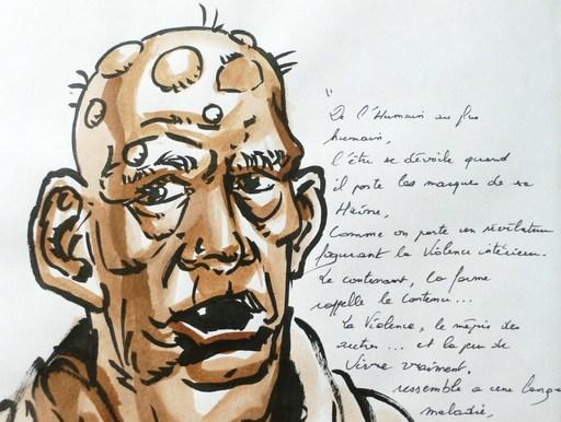 Loïc MALNATI - Drawing-Watercolor - « Anahire Des milliers d'autres »