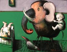 Jörg HERMLE - Pintura - Elephant man