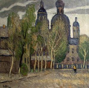 Valeriy NESTEROV - Painting - Samokatnaya street. Moscow