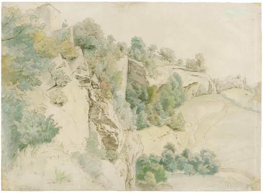 Hans THOMA - Drawing-Watercolor - Bei Salzburg.