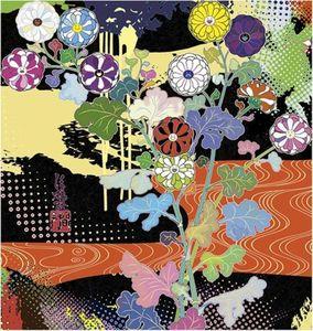 Takashi MURAKAMI - Grabado - Korin: Dark Matter