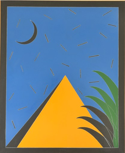 Franco ANGELI - Painting - GIALLO CROMO