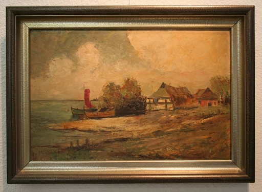Heinz MINDERMANN - Pintura - Fischerdorf