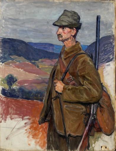 Henri BRUGNOT - Pintura - UN CHASSEUR