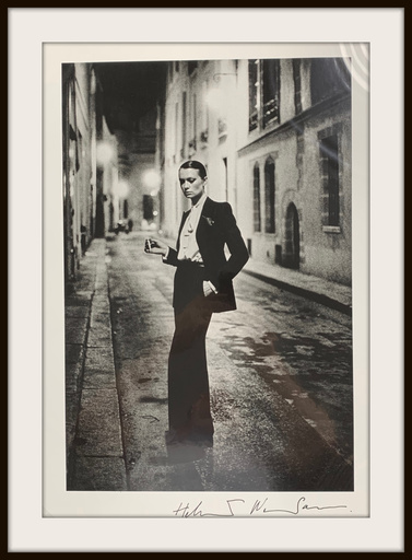 """Helmut NEWTON - Photo - """"Rue Aubriot Paris 1975"""" 20x24 Signed Silver Gelatin Print"""