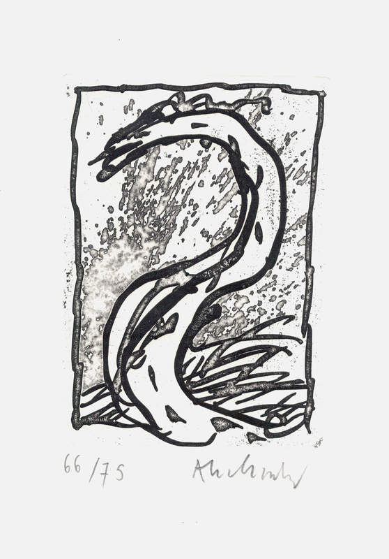 Pierre ALECHINSKY - Estampe-Multiple - '' Rein, comme si de rien ''