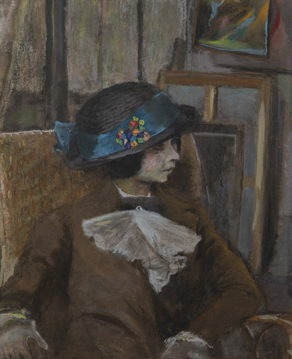 Édouard VUILLARD - Dibujo Acuarela - Le petit modèle au chapeau bulgare