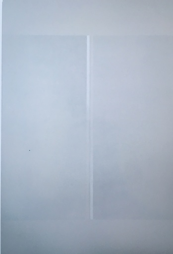 Gianfranco ZAPPETTINI - Painting - Luce bianca su due linee verticali