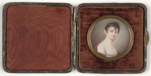 "Anton OECHS - Miniatura - ""Portrait of a young lady"", miniature on ivory, ca. 1805"