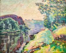 Armand GUILLAUMIN - Peinture - La Roche de l'Echo à Crozant