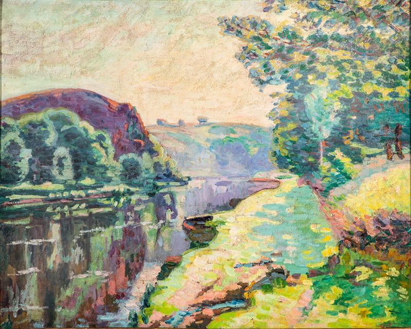 Armand GUILLAUMIN - Painting - La Roche de l'Echo à Crozant