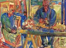 Pegi Margaret MACLEOD - Painting - Wool Grading