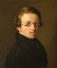 Friedrich Ritter VON AMERLING - Pintura - Porttrait of a young man