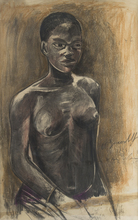Alexander Evgenevich IACOVLEFF - Drawing-Watercolor - A Young African Woman