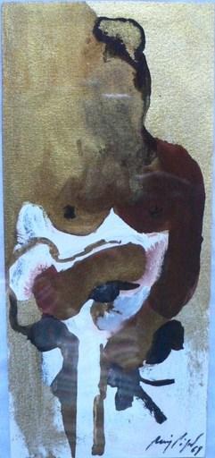 Manolo RUIZ PIPO - Peinture - Femme aux seins nus