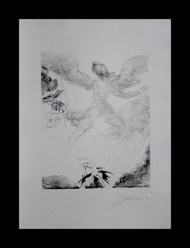 Salvador DALI - Grabado - The Mythology Icarus