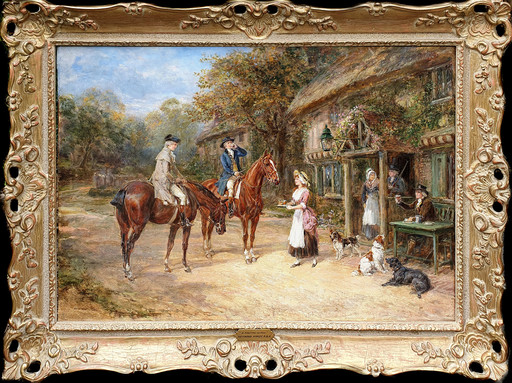 Heywood HARDY - Peinture - A Parting Glass