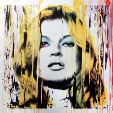MR BRAINWASH - Pintura - Kate Moss Pink