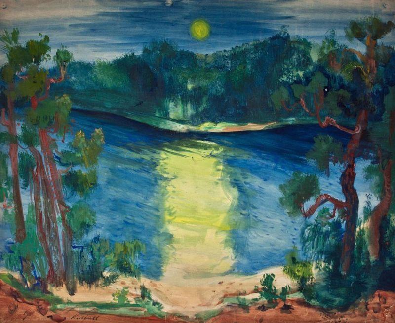 Paul KUHFUSS - Drawing-Watercolor - Märkischer See