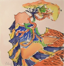 Yasse TABUCHI - Drawing-Watercolor - Sans titre, 1987