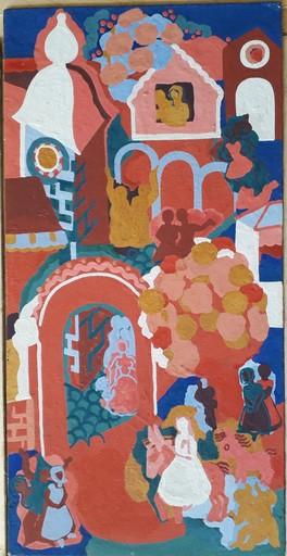 Maud GERARD - Gemälde - Entrée de Jésus dans Jérusalem