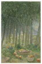 Elie ABRAHAMI - Zeichnung Aquarell - Picnic