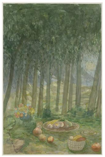 Elie ABRAHAMI - Disegno Acquarello - Picnic