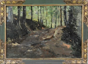 Alfred T. BASTIEN - Pintura - In the forest
