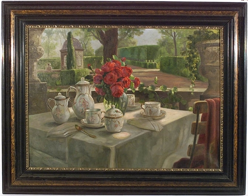"""Alois ZABEHLICKY - Gemälde - """"Breakfast"""", Oil on Canvas, ca 1920"""