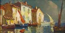 Elie BERNADAC - Painting - Martigues  - Canal du Roy