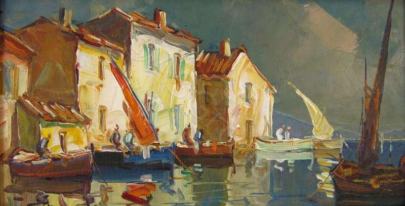 Martigues Canal Du Roy By Elie Bernadac Buy Art