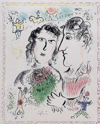 Marc CHAGALL - Druckgrafik-Multiple - Engagement at the Circus