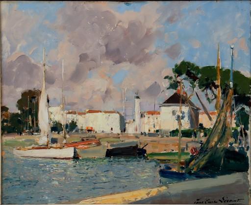 """Paul Emile LECOMTE - Pintura - """"LE PORT DE LA ROCHELLE"""""""