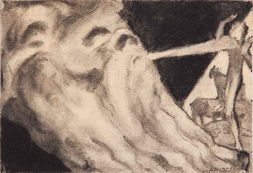 Adolfo WILDT - Drawing-Watercolor - STUDIO PER LE GIORNATE DI DIO E DELL'UMANITÀ