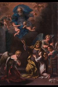 Ercole II GRAZIANI - Gemälde - The education of the Virgin