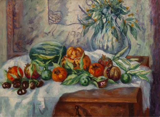 Henri MANGUIN - Pintura - Nature morte à la cruche et melon