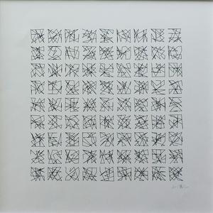 Véra MOLNAR - Drawing-Watercolor - Hommage à Dürer 91 variations