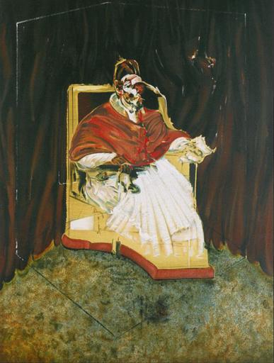 Francis BACON - Grabado - Étude pour un portrait du Pape Innocent X d'après Vélasquez