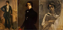 Félix BRACQUEMOND - Pintura - Portrait romantique de Théodore Chassériau