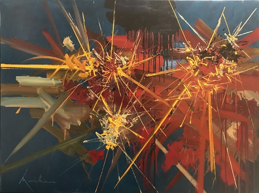 Georges MATHIEU - Gemälde - L'unité rayonnante