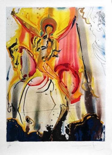 Salvador DALI - Print-Multiple -  Le Cavalier Triumphant