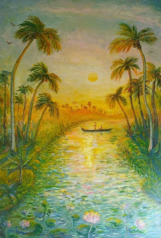 Maria SOKOLOVA - Painting - Tale of Kerala
